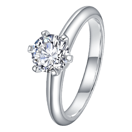 18K Classic Six Prong Solitaire Ring